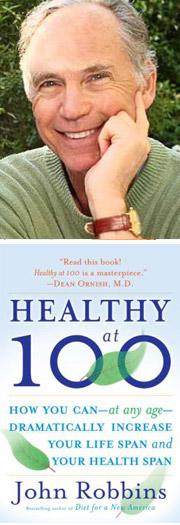 portrait book john robbins healthy at 100