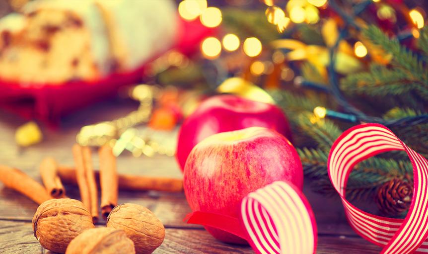 Jessie Ziff Cool apple holiday tree walnut nut Christmas