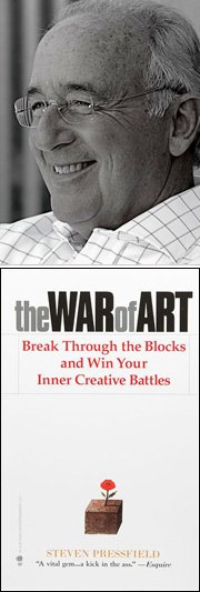 Steven Pressfield portrait book war of art