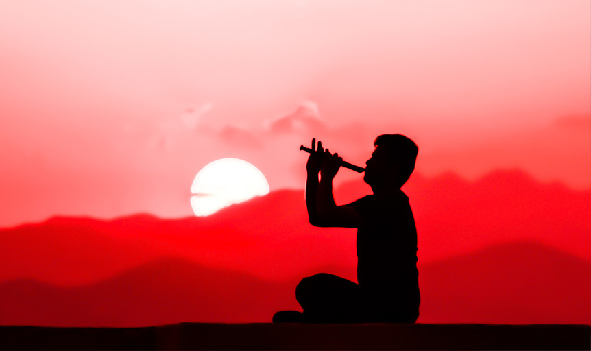 flute sunset sunrise recorder eric booth red