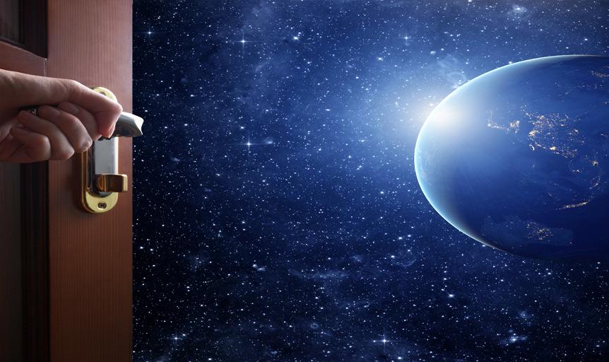 al joy door planet space
