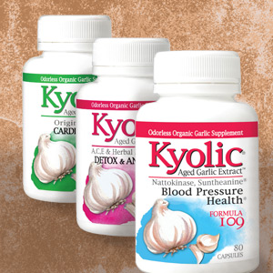 kyolic bottles three brown