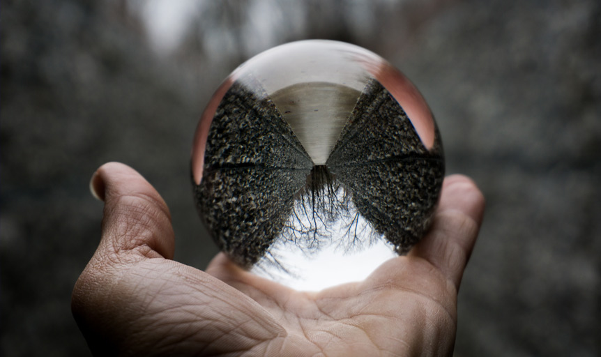 Jon Kraft gazing crystal ball hand visionary journey