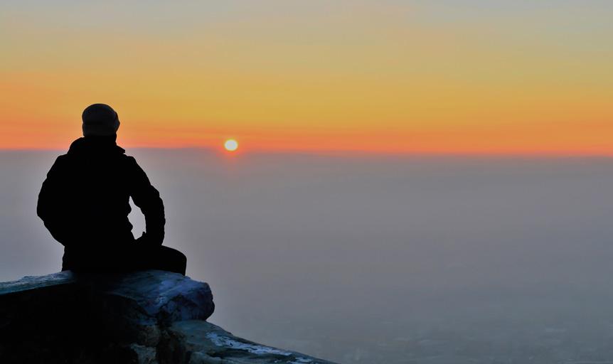 David Deida Way of the Superior Man sunset mountain