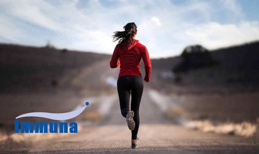 female woman jog Immuna road
