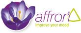 Affron saffron purple flower logo small science