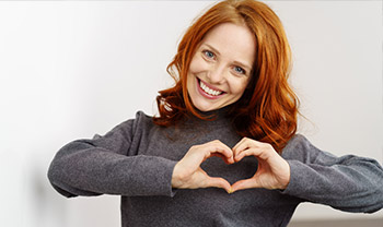redhead heart hands small
